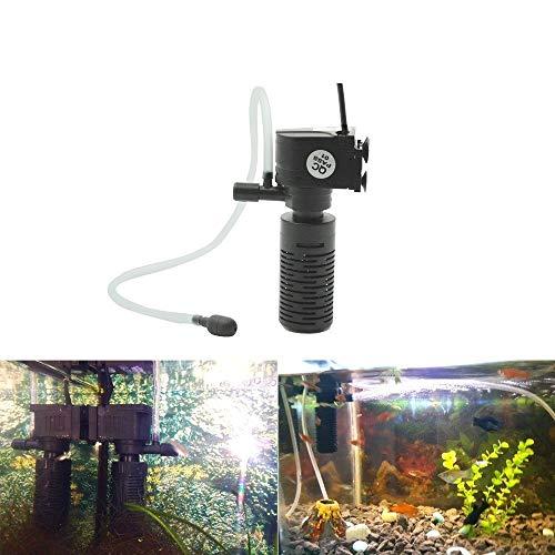 Gzh 3 en 1 de Filtro for Peces de Acuario Tanque de Filtro Mini Tanque de Pescados del Filtro del Acuario del oxígeno purificador de Agua Sumergible (Color : Black)