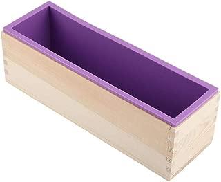 Jabón de silicona 1200g molde rectangular caja de madera con flexible Liner para DIY hecho a mano del pan de molde del jabón del molde
