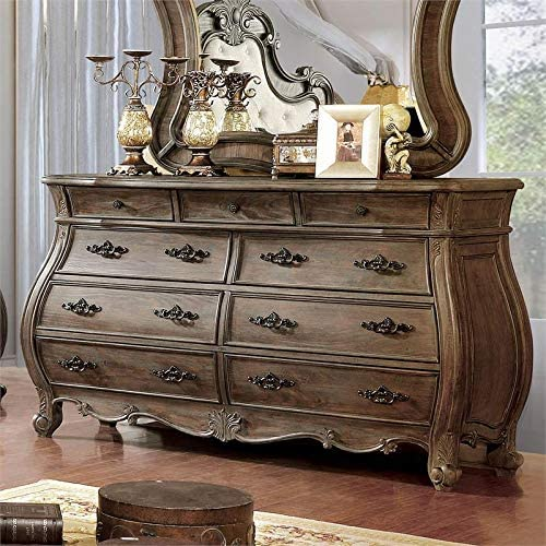 BOWERY HILL Solid Wood 9-Drawer in Tone Dresser Natural Max 65% OFF online shop