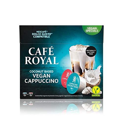 Café Royal Cappuccino Coconut Vegan 48 Dolce Gusto®* Kaffeekapseln, 3er Pack (3 x 16 Kapseln)