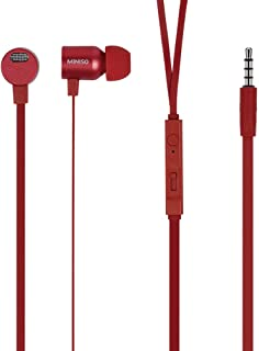 Auriculares in-ear metálicos (rojo)