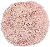Brandsseller Sitzkissen Teppich Lammfell-Optik Kunstfell Lammfellteppich Lammfellkissen Rund Ø 38 cm Rosa