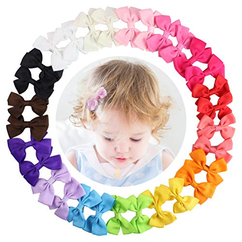 HBF 30 Piezas Lazos Pelo Niña Bebe Cinta Lazo 15 Colores Pinzas Para El Pelo Bebe Accesorio Para El Pelo