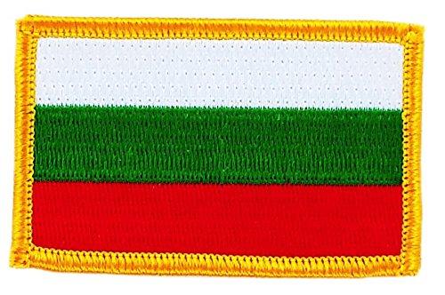 Patch Aufnäher bestickt Flagge Bulgarien bulgarischen Flag zum Aufbügeln Backpack