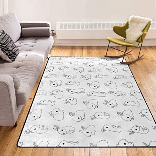 Original Premium Soft Living Room Divertido Tiny Bunny Area Alfombra Dormitorio Alfombras de Piso Sensación más Suave Alfombra de 60 x 39 Pulgadas Best Touch Lujo Decoración de habitación Moderna