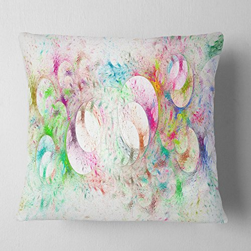Designart Snow Fractal Ornamental Glass Abstract Throw Cushion Pillow Cover For Living Room Sofa 16 X 16 Shefinds
