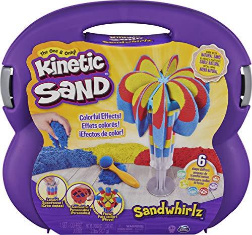 Kinetic Sand Sandwhirlz Juego de 3 Colores de Arena cinética (907 g) y más de 10 Herramientas, para niños a Partir de 3 años