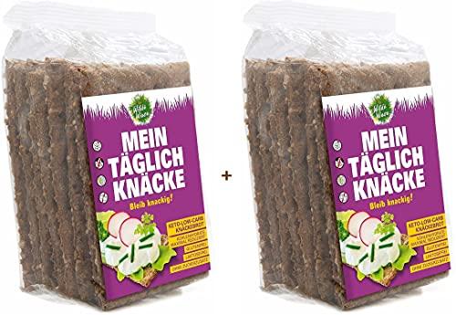 Wilde Wiese Maxi Crackers Proteici Low Carb Keto Chetogenici Confezione da 340 Grammi Poche Calorie Dieta Chetogenica Paleo Atkins Diet Solo 1,9 Grammi di Carboidrati per Cracker