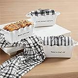 Mud Pie Always Circa Mini LOAF W Towel, Baker 2 1/2' x 7' x 3' 26' x 18'