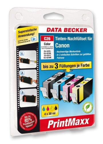 Data Becker 311060 C26 Refillkit voor Canon Pixma Series kleur