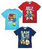 Sam el bombero Chicos Camiseta Manga Corta - Rojo - 140