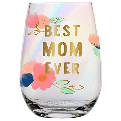 Slant 657284939634 10-04859-016 20 oz Stemless Wine Glass Best Mom Ever, Clear