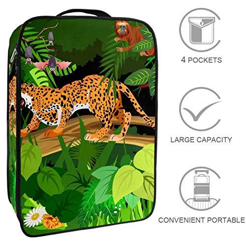 TIZORAX - Caja organizadora de zapatos con diseño de leopardo para saltar en el árbol