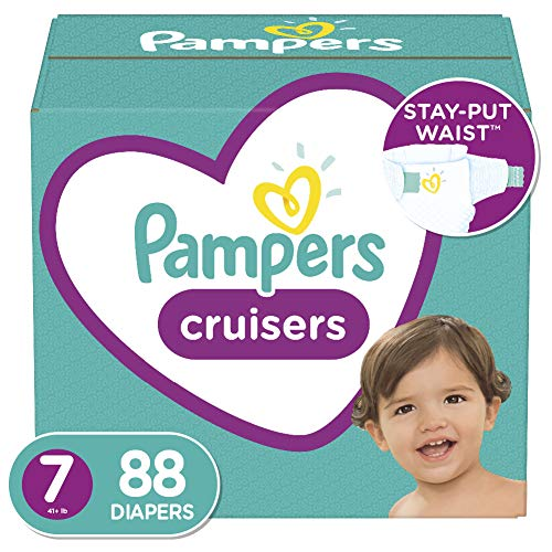 Diapers Size 7, 88 Count - Pampers Cruisers Disposable Baby Diapers, ONE MONTH...