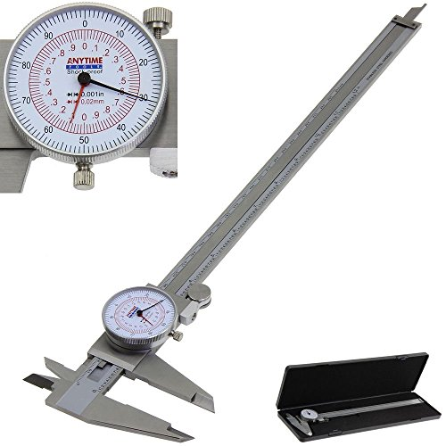 Anytime Tools Dial Caliper 12' / 300mm Metric/INCH SAE Standard MM...