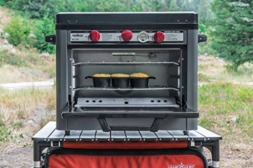 Camp Chef Deluxe Outdoor Camp Oven - Stainless Steel, Insulated Oven Box, Matchless Ignition - Charcoal Gray (COVEND) 4