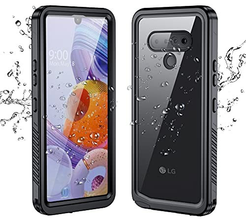 Lg Stylo 6 Case Waterproof with Built-in Screen Protector Dustproof Shockproof Drop Proof Case, Rugged Full Body Underwater Protective Cover for Lg Stylo 6 (Black)