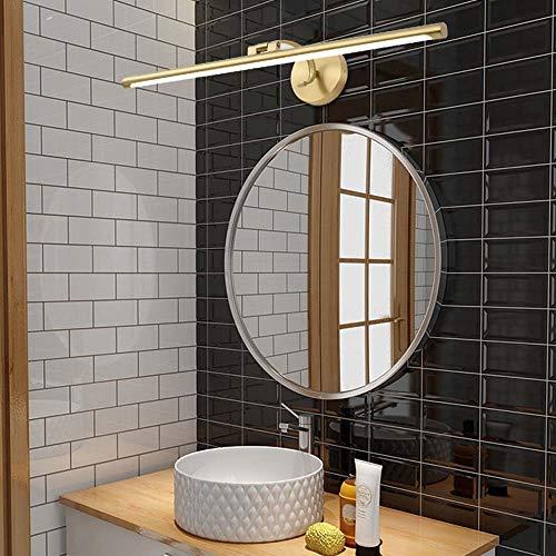 FAGavin Bronzefarbener Spiegelschrank, volle Scheinwerfer, LED-Leuchten für Badezimmer, WC-Befestigung, nordische Badewanne, Make-up-Lichter (Durchmesser 40 cm, Tiefe 55 cm, Tiefe 70 cm)