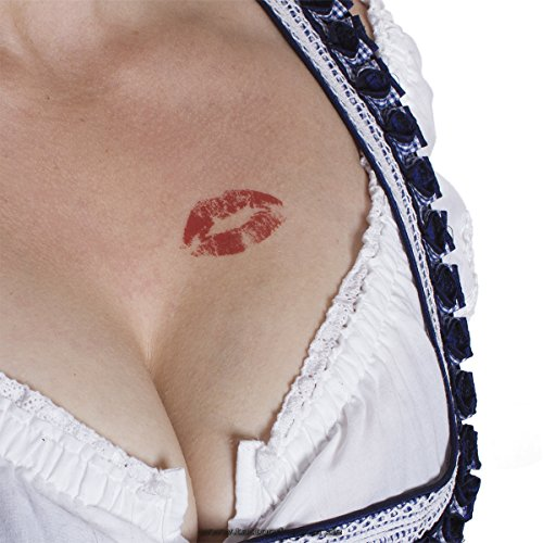 Beso Labios Tattoo – beso – sexy Kiss – Rojos Labios Tattoo, rojo ...