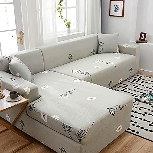 Funda de sofá para sofá de Todos los tamaños Funda de sofá elástica Universal para Sala de Estar Protector de Cubierta Decorativa A24 3 plazas