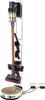 DingGreat Metal Soporte de Suelo para Dyson V11 V10 V8 V7 V6 Aspirador inalámbrico y Otra Handheld Vacuum Cleaner (Blanco)