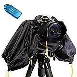 First2savvv FYZ-DF-01 Cubierta Prueba de Agua/lluvia Cubierta de Protector Lluvia para Camaras DSLR para OLYMPUS Nikon Canon + Lector de tarjetas SD