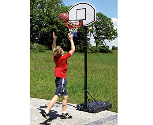 Betzold 42104 - Basketball-Ständer Basketball-Korb, Zielbrett: 91 x 62 cm, höhenverstellbar 205 - 265 cm - Outdoor-Board