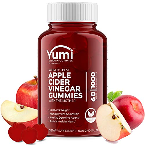 Apple Cider Vinegar Gummies with Raw Organic Acv from The Mother, Paired with Vitamin B, Pomegranate & Beet Juice Powder to Detox, Cleanse and Support Immunity, GMO, Non Gluten and Vegan, 60 Gummies