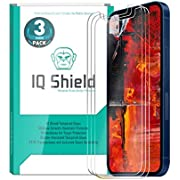 IQ Shield Glass Screen Protector Compatible with Apple iPhone 12 Mini (5.4 inch)(3-Pack) Clear Tempered Ballistic Glass HD and Transparent Shatter-Proof Shield, 99% Touch Accuracy