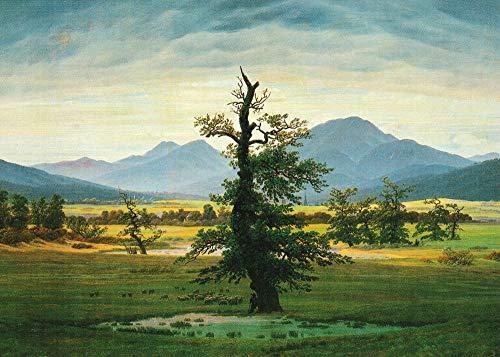 """5er-Packung: Kunstkarte Caspar David Friedrich""""Der einsame Baum"""""""