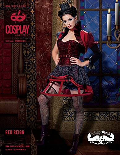 McCalls Cosplay Damen Schnittmuster 2091 Red Reign Kostüm