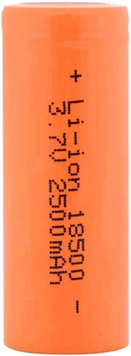 Rechargeable Battery Kansas City Mall 3.7V free shipping 18500 for 2500Mah Lithium-Ion
