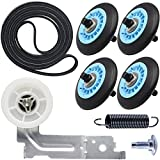 Upgraded Dryer Repair Kit Compatible with Samsung Dryer Includes DC97-16782A Dryer Roller DC93-00634A Idler Pulley 6602-001655 Dryer Belt, Figures 6 and 7 are Fit Models