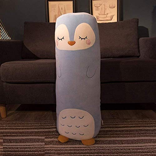 Animal largo almohada lindo relleno peluche juguete cómodo peluche almohada muñeca cilíndrica cojín para chrismas cumpleaños regalo dormitorio sala de estar 68 cm 278 (color: a, Tamaño: s: 68 * 15 cm)