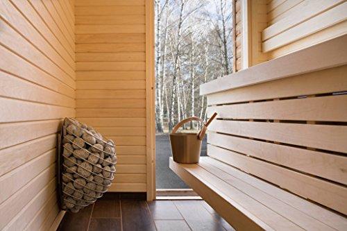 Huum Elektrischer Saunaofen & Uku App Fernbedienung Drop 4,5 kW für iOS & Android