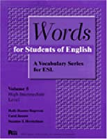 Words for Students of English: A Vocabulary Series for Esl (PITT SERIES IN ENGLISH AS A SECOND LANGUAGE)
