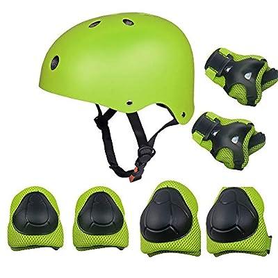 Grist CC Kinder Sport-Schutzausrüstung Helm Schutzset für Skateboard Rollerblades Reiten Fahrrad Inlineskates