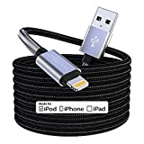 15 Ft Extra Long iPhone Charger Cord, [Apple MFi Certified] iPhone Charging Cable, 2.4A Nylon Braided Lightning Cable for iPhone 12/11 Pro Max/ 11 Pro/XS Max/XS/XR/X/ 8 Plus/ 8/7/ 6/5