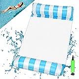 EKKONG Hamaca hinchable para piscina, colchón hinchable 4 en 1, para adultos y niños, verano, fiesta, piscina, mar al aire libre