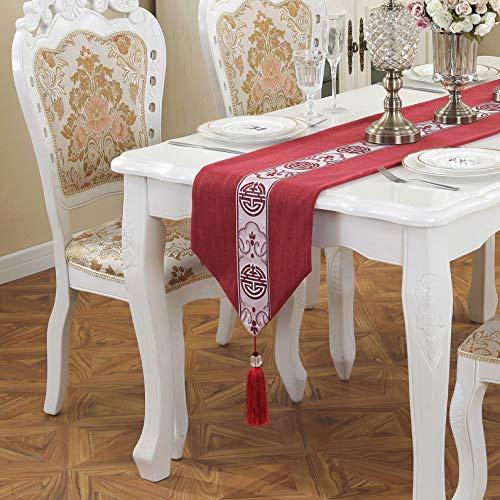 Jiaquhome Table Runner Simple Modern Vintage Algodón y Lino Arte Té Table Runner TV Cabinet Table Cloth Bed Bandera de Tela
