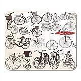 Mauspads abstrakte weiße vintage große sammlung von handgezeichneten fahrrädern fahrrad antik mauspad für notebooks, Desktop-computer mausmatten