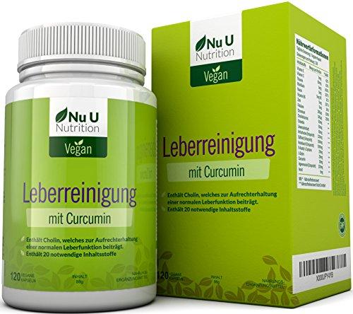 Livactivate Leberreinigung mit Curcumin und löwenzahn | Vegan Leberentgiftende Kapseln (keine Tabletten) | Kapseln | Enthält 20 Notwendige Inhaltsstoffe zur Unterstützung der Leber | leber entgiften