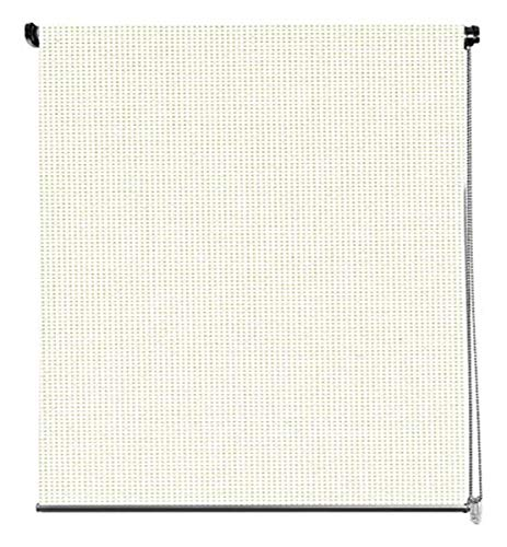 Cortina Enrollable Black Out - 100% Opaca, Tamaño 100 x 250 cm, Color Beige