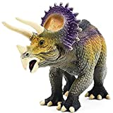 Gemini&Genius Jurassic Dinosaur World Toys Triceratops Action Figure Realistic Dinos Figurine Storytelling, Birthday Cake Topper, Role Play, Collection for Kid 3-12 Years Old