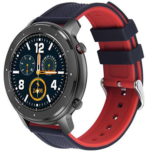 Fullmosa Correa Reloj, Repuesto de Correa Reloj de Silicona Compatible con Samsung Galaxy Watch/Gear S3/Huawei Watch GT 2, Watch Straps,18mm, 20mm, 22mm, Pulseras Bandas para Smartwatch Mujer