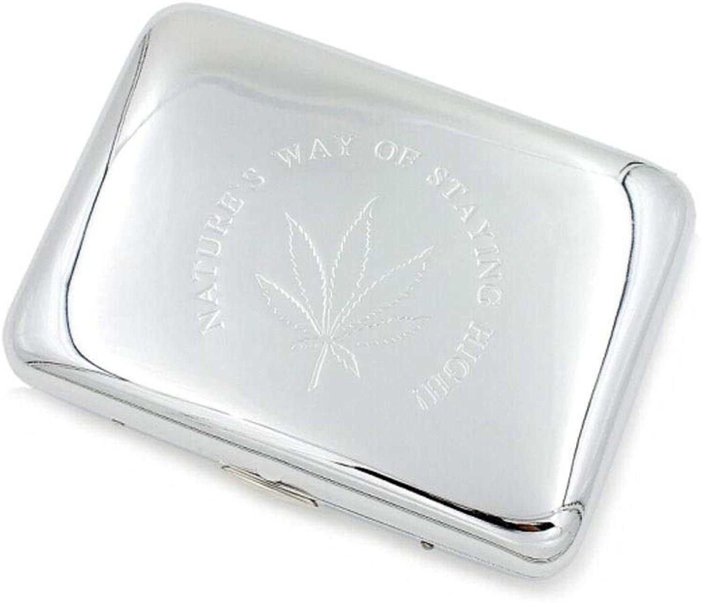 Cigarette Case, Metal Cigarette Case, Copper 16-Pack Cigarette Case, Moisture-Proof and Anti-Pressure Cigarette Case, gold Silver