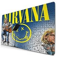 マウスパッド Nirvana カート・コバーン ニルヴァーナ 大型 キーボードパッド デスクマット FPSゲーム 滑り止め 防水 ゲーミング 耐摩耗 疲労低減 個性的 (40*75cm)