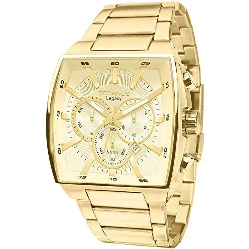 Relógio Technos, Pulseira de Aço, Masculino, Dourado
