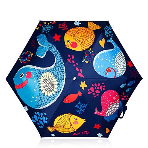 DORRISO Linda Estudiante Paraguas Plegable Paraguas Infantiles Niño Niños Paraguas Resistente al...