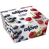 Alpro Blueberry & Cherry - Yogures mixtos de soja (6 x 4 x 125 g)
